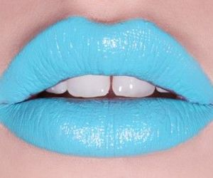 blue, lips, and style image