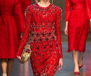 dress, red, and Dolce & Gabbana image