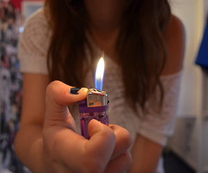 girl and lighter image