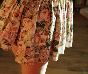skirt, flowers, and floral image