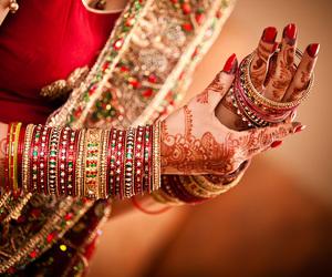 bangles, gold, and henna image