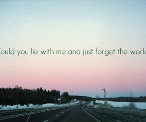 quote, forget, and snow patrol image