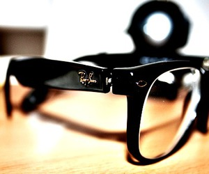 black, cool, and glasses image
