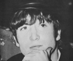 black and white, john lennon, and cute image