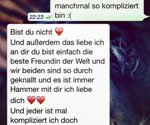 best friend, beste freundin, and whatsapp image