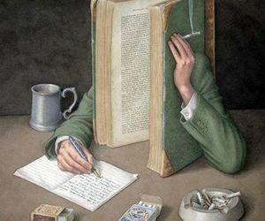 book, art, and write image