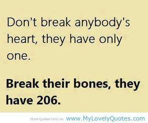 heart, bones, and quotes image