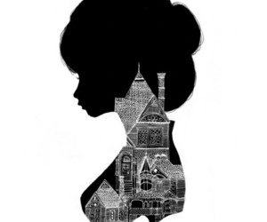 art, silhouette, and black image