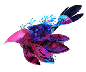 art, feather, and bird image