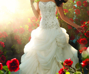 wedding dress, bride, and dress image