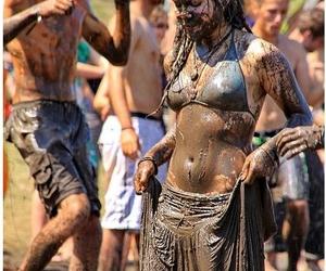 rasta girl, psy trance, and ozora festival image