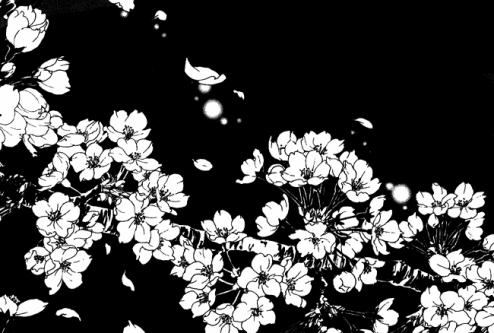 Image de flowers, manga, and monochrome