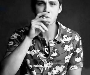 logan lerman, boy, and smoke image