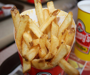 food, wendy's, and fries image