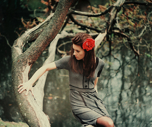 girl, rose, and nature image