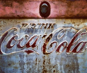 coca cola, rust, and vintage image
