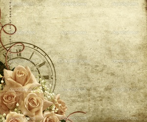 pretty, roses, and vintage image