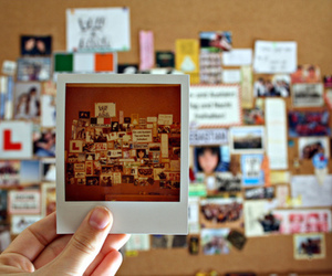 photography, polaroid, and room image