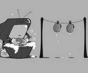 tv, brain, and reality image