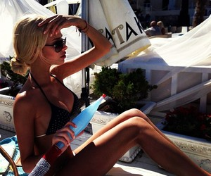 beach, girl, and tan image