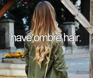 hair, ombre, and quote image
