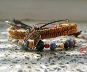 accessories, bracelet, and wings image