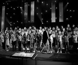 choir and black and white image