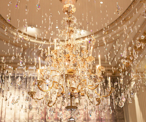 chandelier, french, and gold image