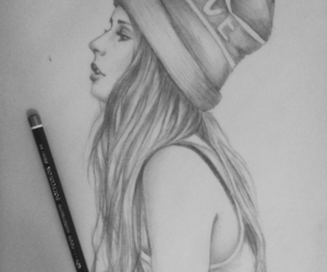 drawing, pretty, and girl image