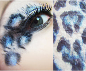 blue, eye, and make up image