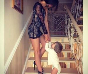 baby, dress, and mom image