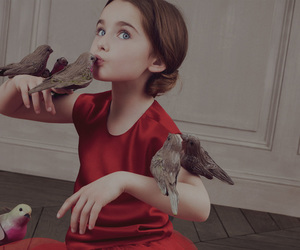 bird, birds, and girl image