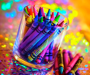 colors, crayon, and colorful image