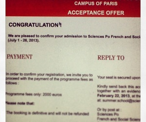 congratulations, paris, and accepted image