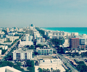 beach, Miami, and view image