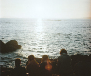 friends, sea, and vintage image