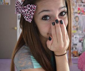 girl, bow, and tumblr image