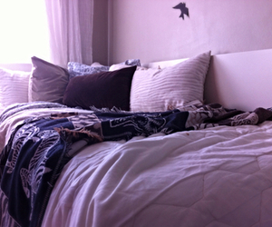 bed, bedding, and bedroom image