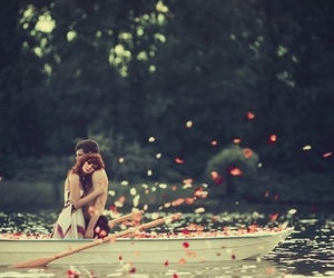 beautiful, boat, and couple image