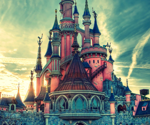 disney, castle, and disneyland image