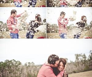 couple, photography, and hug image