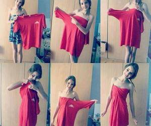 dress, diy, and red image