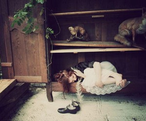 girl, shoes, and hiding image