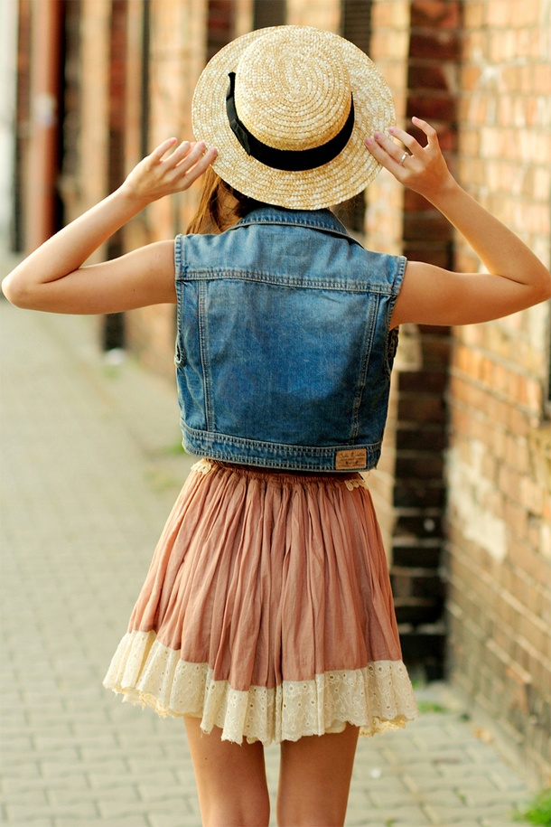 denim, skirt, and summer image