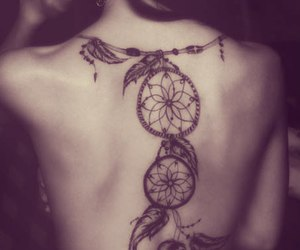 back, dreamcatcher, and female image
