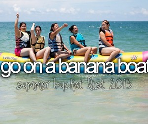 before i die, banana boat, and summer image