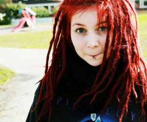 girl, Pink Floyd, and dreads image
