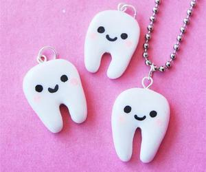 white, cute, and necklace image