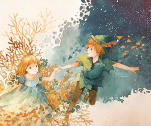 peter pan, wendy, and art image