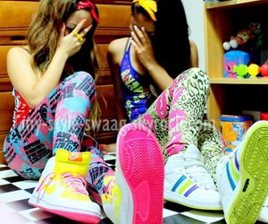girl, swag, and friends image